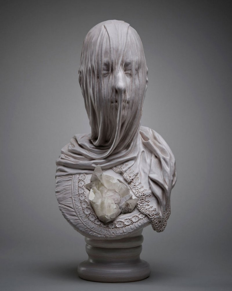 Intricate Sculptures Of Ghostly Veiled Busts By Livio Scarpella 1