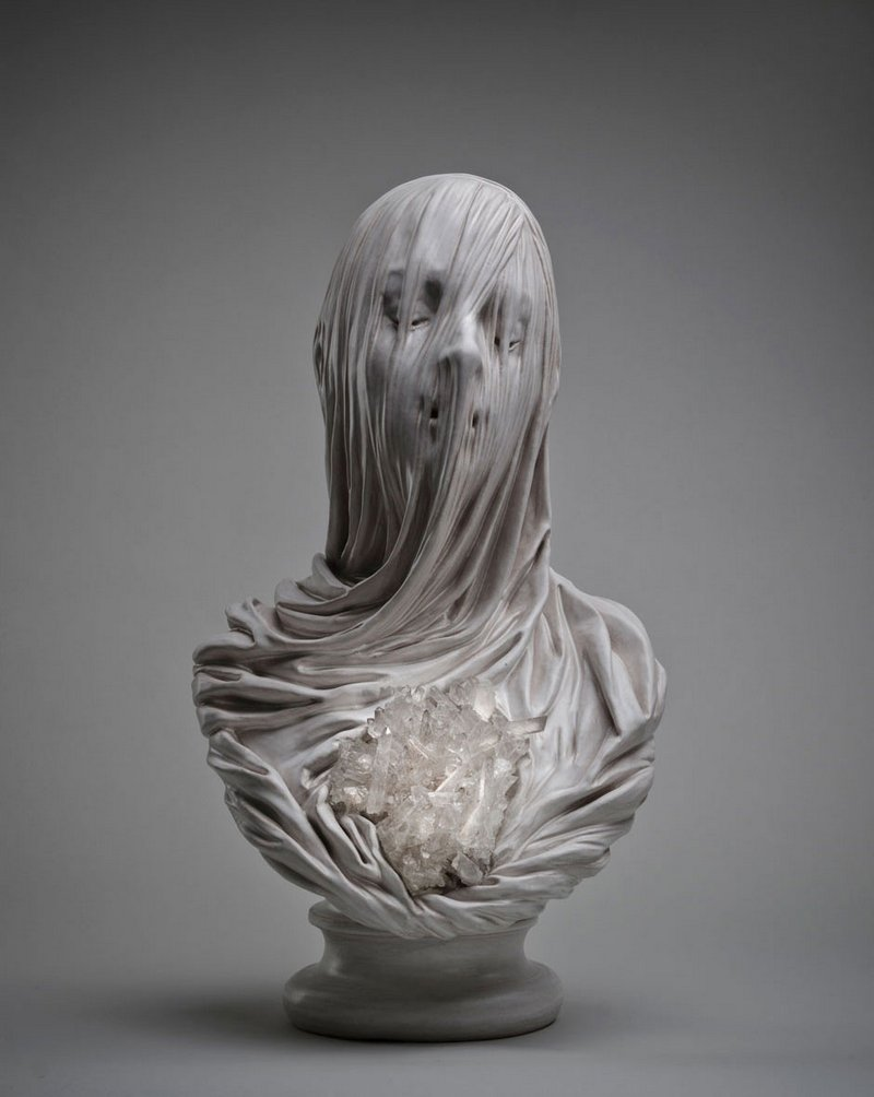 Intricate Sculptures Of Ghostly Veiled Busts By Livio Scarpella 2