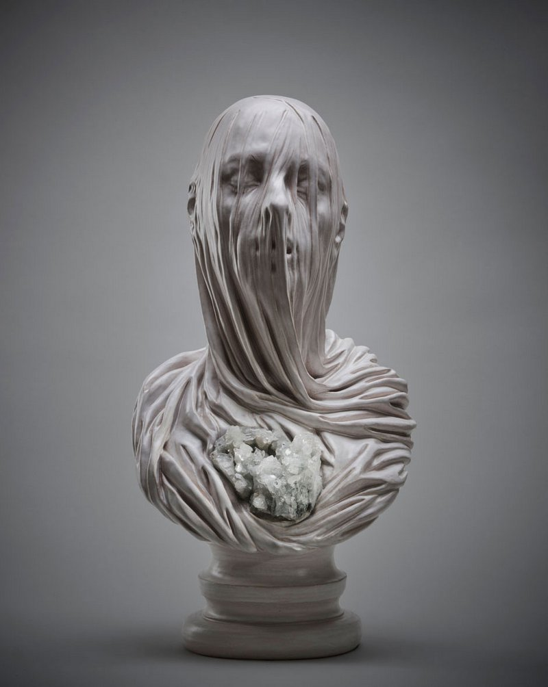 Intricate Sculptures Of Ghostly Veiled Busts By Livio Scarpella 3