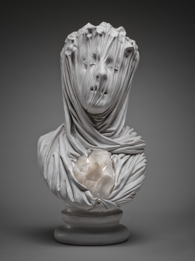 Intricate Sculptures Of Ghostly Veiled Busts By Livio Scarpella 4
