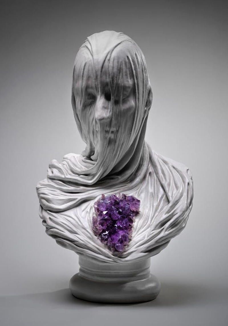 Intricate Sculptures Of Ghostly Veiled Busts By Livio Scarpella 5