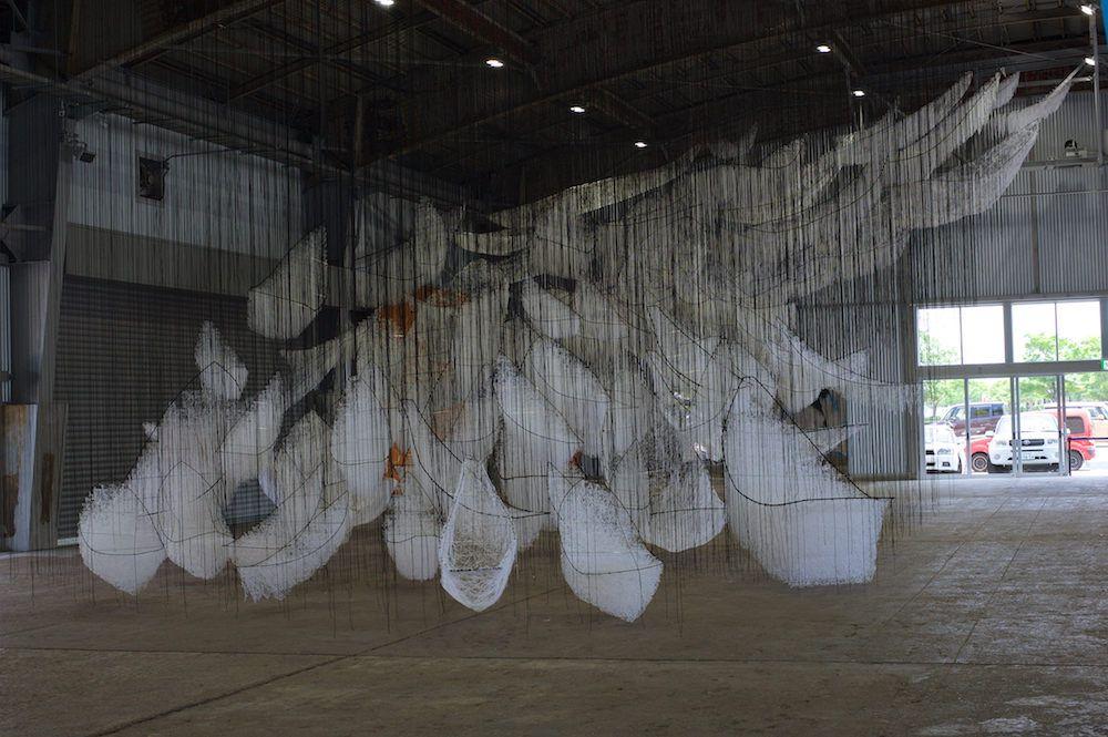 Intriguing Yarn Installations By Chiharu Shiota 5