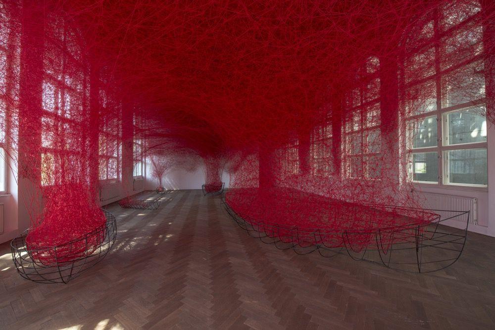 Intriguing Yarn Installations By Chiharu Shiota 8