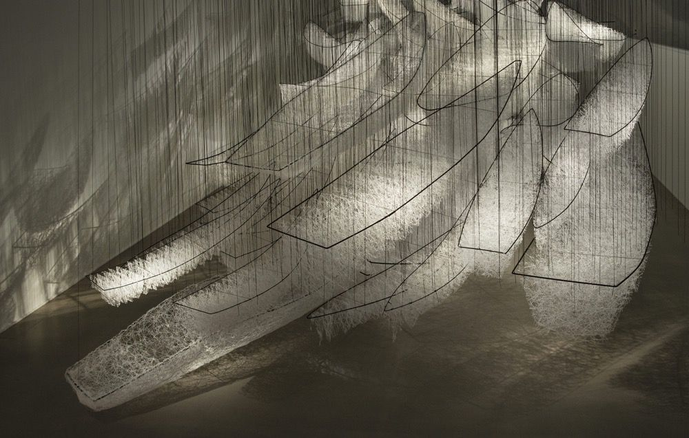 Intriguing Yarn Installations By Chiharu Shiota 9