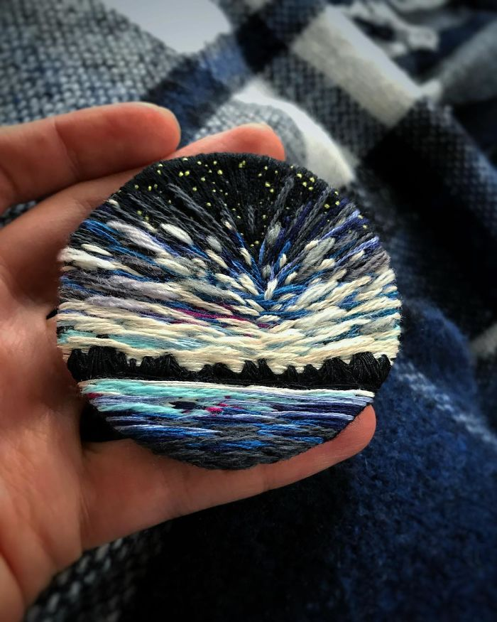 Lush Embroidery Hoop Art Of Landscapes In Vivid Colors By Vera Shimunia 18