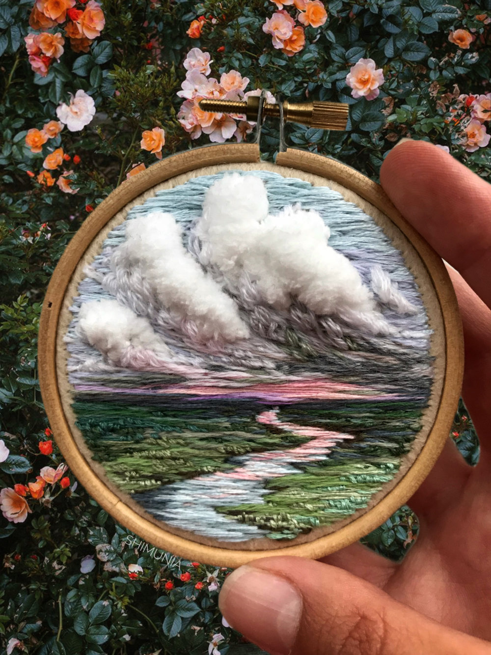 Lush Embroidery Hoop Art Of Landscapes In Vivid Colors By Vera Shimunia 2
