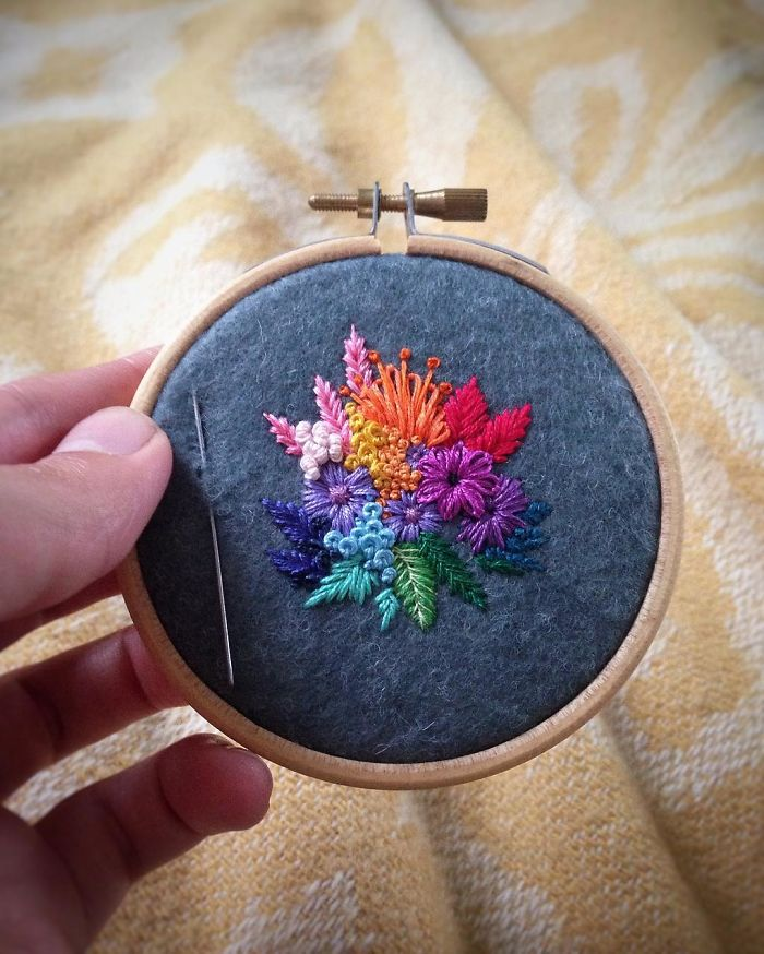 Lush Embroidery Hoop Art Of Landscapes In Vivid Colors By Vera Shimunia 20