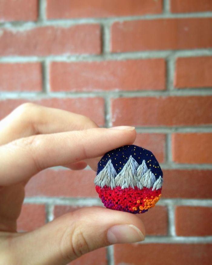 Lush Embroidery Hoop Art Of Landscapes In Vivid Colors By Vera Shimunia 21