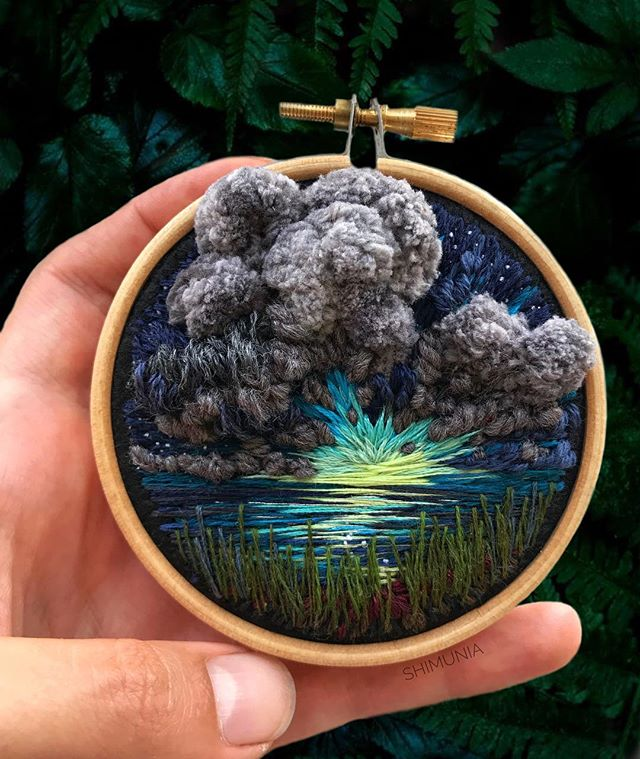 Lush Embroidery Hoop Art Of Landscapes In Vivid Colors By Vera Shimunia 33