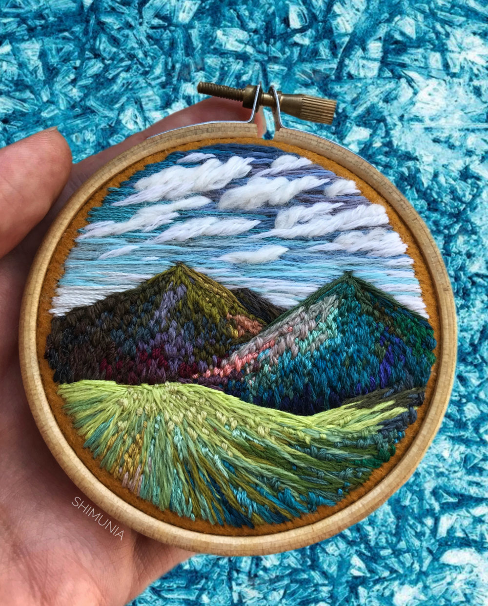 Lush Embroidery Hoop Art Of Landscapes In Vivid Colors By Vera Shimunia 6