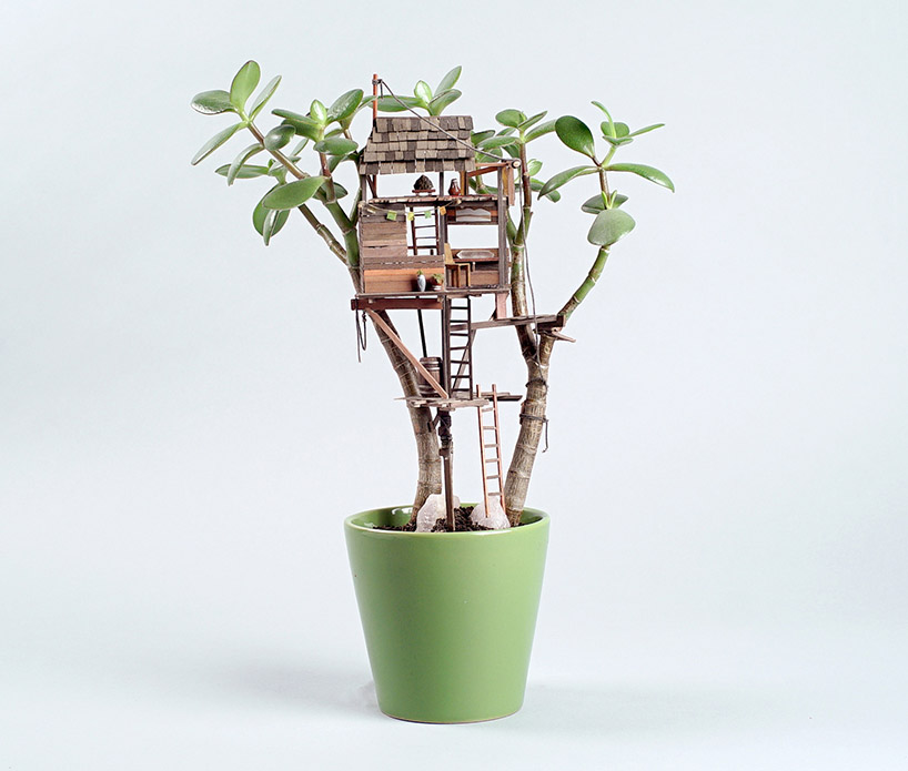 Somewhere Small Tree Houses In Miniature By Jedediah Corwyn Voltz 1