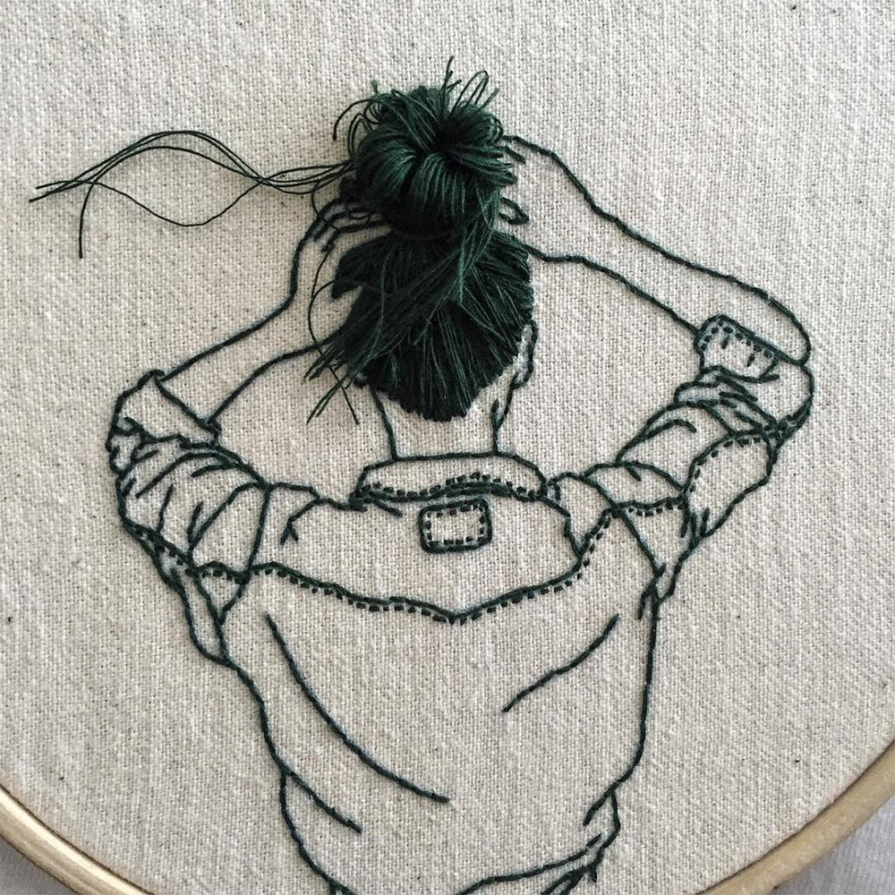 Wonderful Hair Embroidery Hoop Art By Fashion Model And Artist Sheena Liam 3