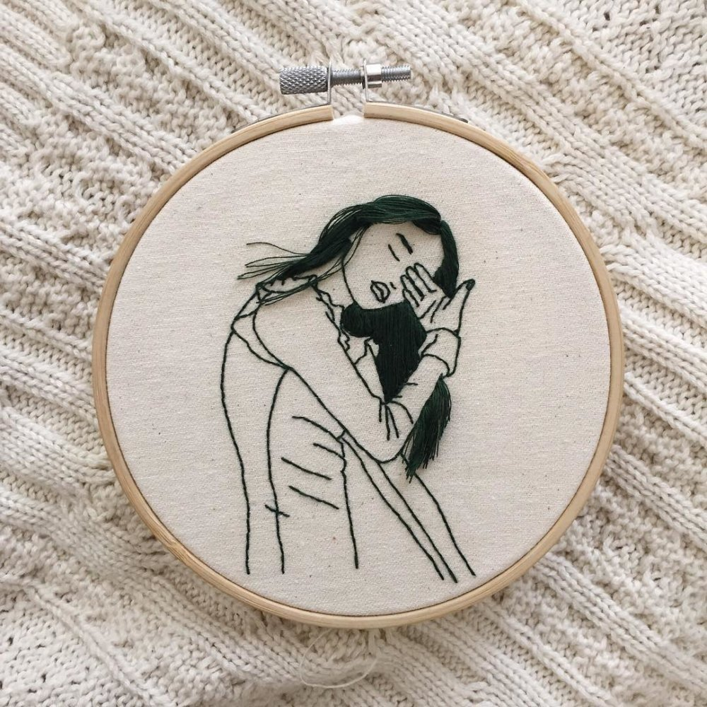 Wonderful Hair Embroidery Hoop Art By Fashion Model And Artist Sheena Liam 9