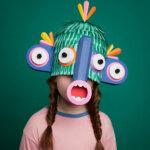 New species: amusing paper masks by Lobulo Studio