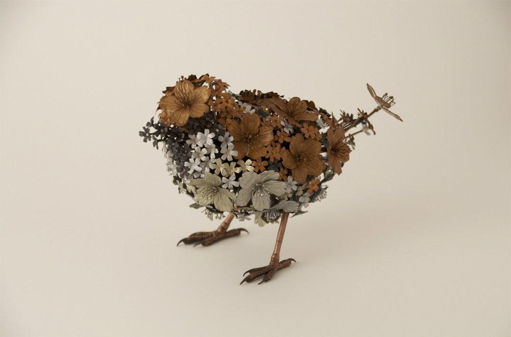 Animal Sculptures Made Of Metallic Blooms By Taiichiro Yoshida 1