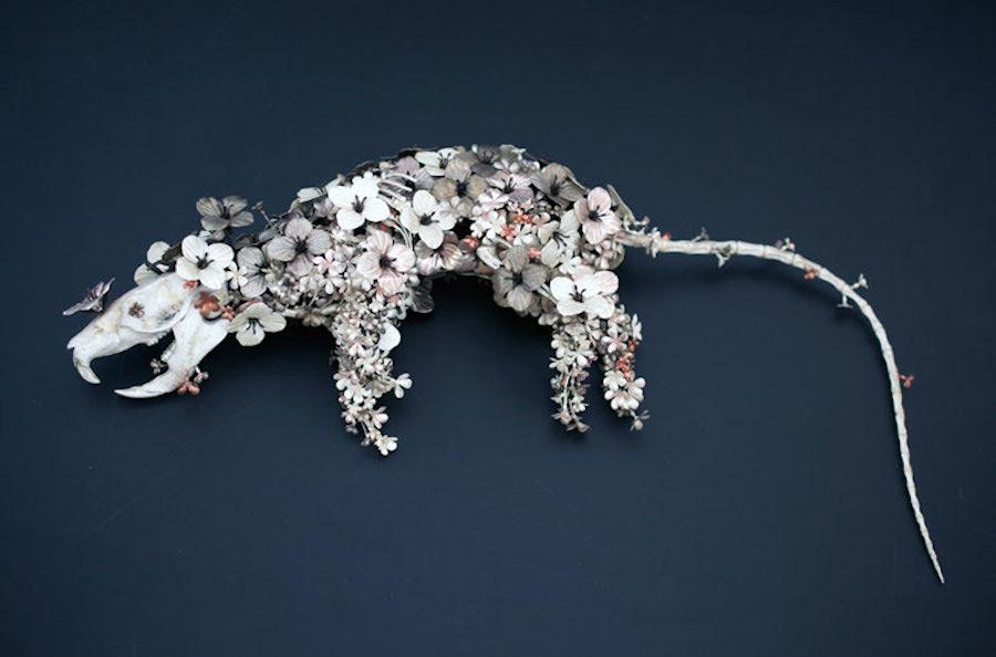 Animal Sculptures Made Of Metallic Blooms By Taiichiro Yoshida 4
