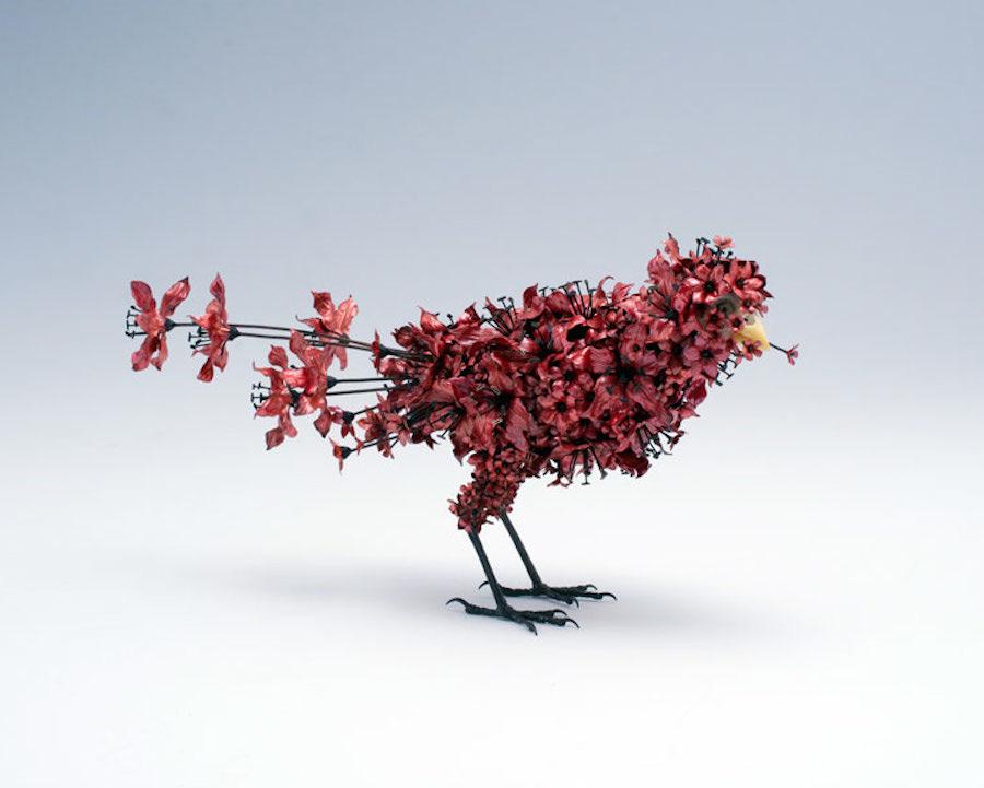 Animal Sculptures Made Of Metallic Blooms By Taiichiro Yoshida 5