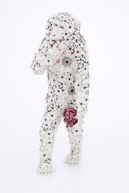 Animal Sculptures Made Of Metallic Blooms By Taiichiro Yoshida 6
