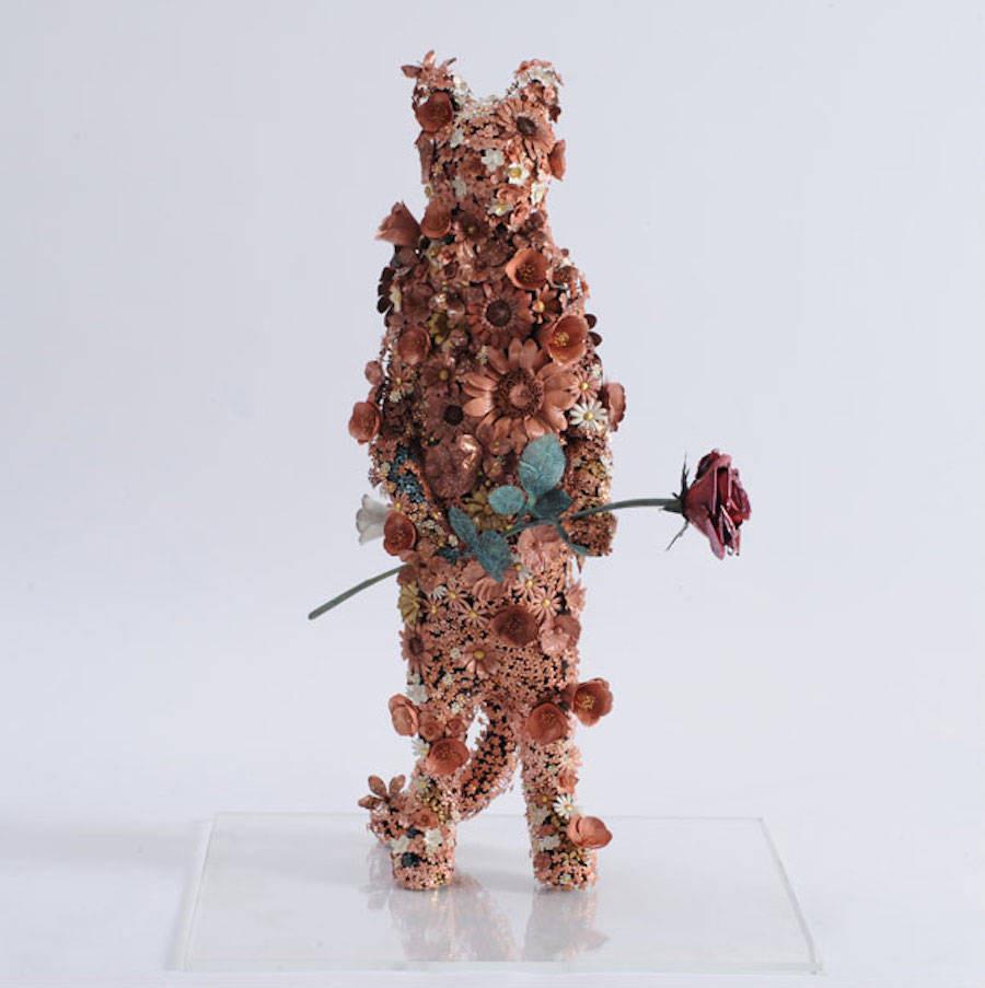 Animal Sculptures Made Of Metallic Blooms By Taiichiro Yoshida 8
