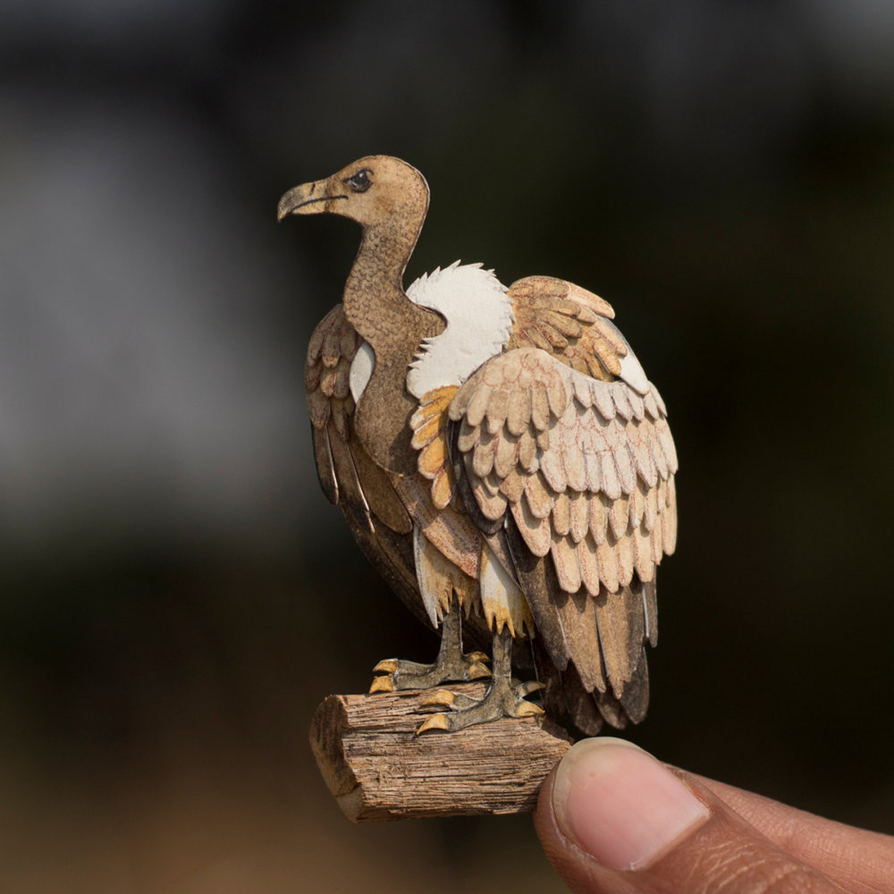 Awesome Bird Paper Cut Sculptures In Miniature By Vaishali Chudasama 4