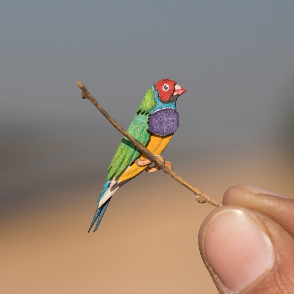 Awesome Bird Paper Cut Sculptures In Miniature By Vaishali Chudasama 6