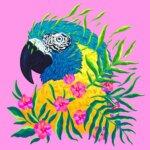 """""""Endangered Species"""": illustrations of endangered animals adorned with florals by Jen Bartel"""