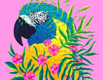 """Endangered Species"": illustrations of endangered animals adorned with florals by Jen Bartel"