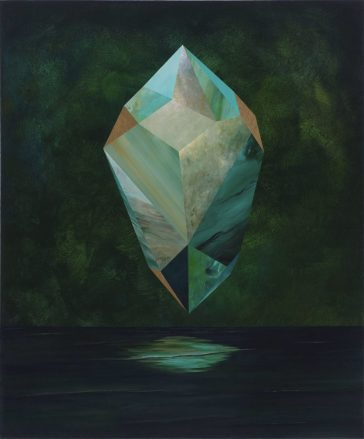 """Incandescence"": surrealistic floating crystal paintings by Rebecca Chaperon"