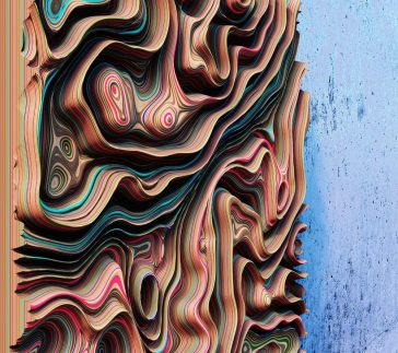 """Jupiter Panels"": the colorful 3D wall panels inspired by the gas giant's clouds of Oleg Soroko"