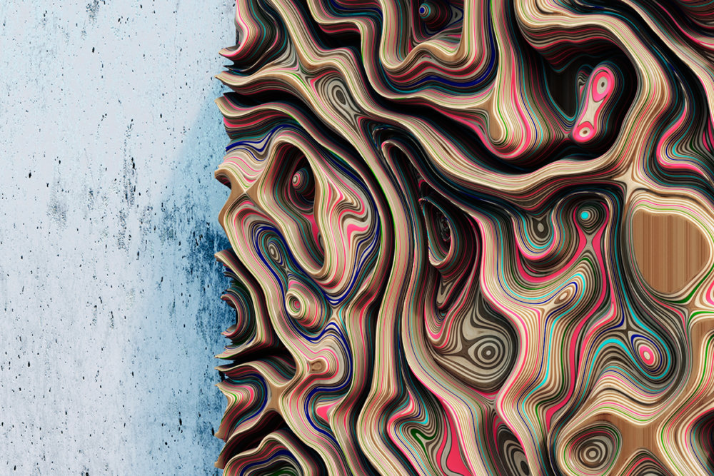 Jupiter Panels The Colorful 3d Wall Panels Inspired By The Gas Giants Clouds Of Oleg Soroko 7