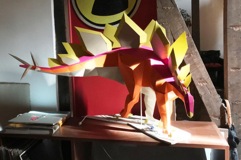 Khartosauria Colorful And Accurate 3d Dinosaur Paper Sculptures By Seba Naranjo 2