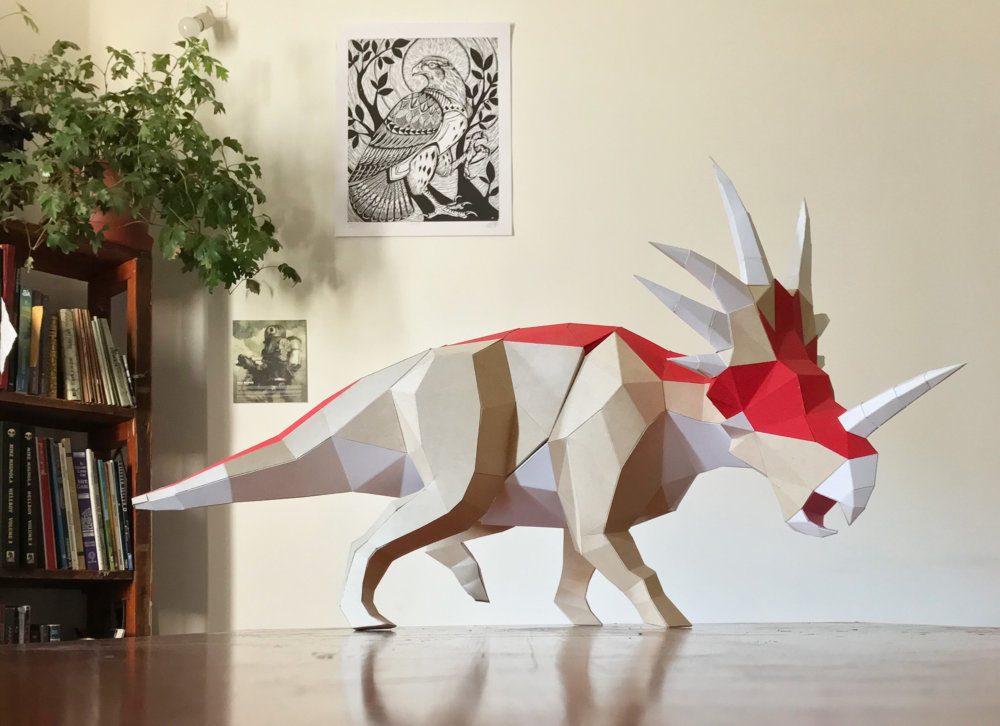 Khartosauria Colorful And Accurate 3d Dinosaur Paper Sculptures By Seba Naranjo 3