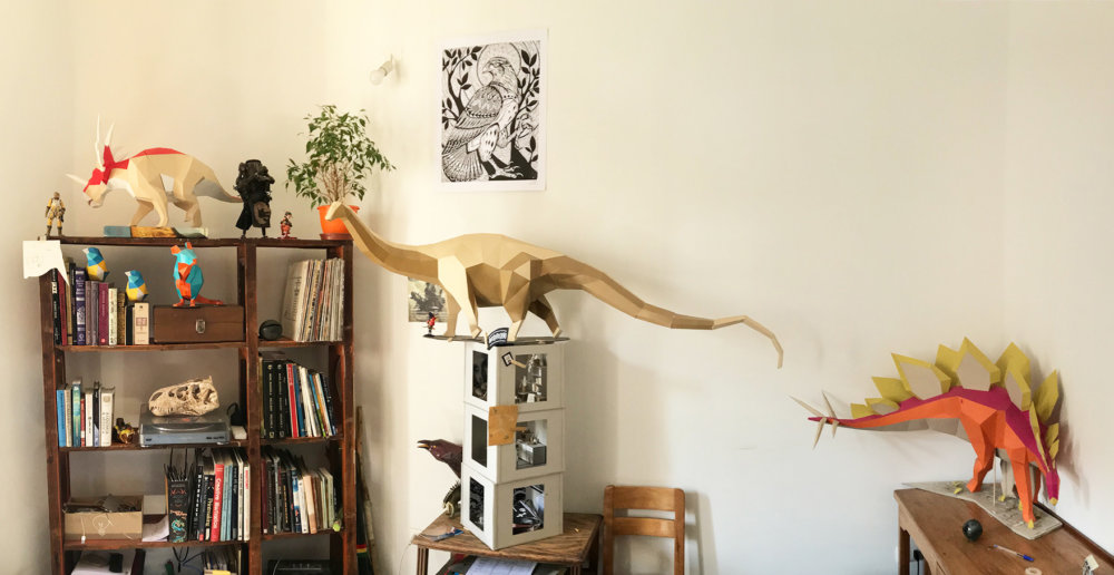 Khartosauria Colorful And Accurate 3d Dinosaur Paper Sculptures By Seba Naranjo 5