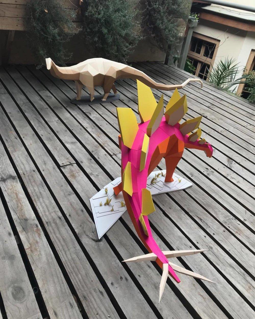 Khartosauria Colorful And Accurate 3d Dinosaur Paper Sculptures By Seba Naranjo 7