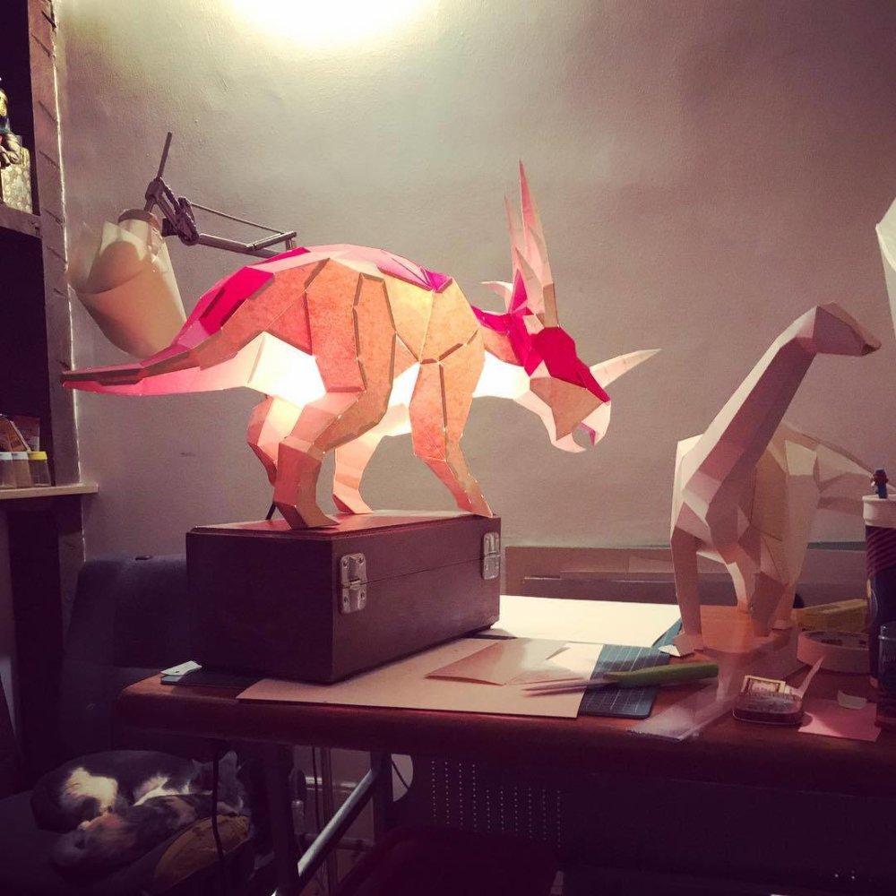 Khartosauria Colorful And Accurate 3d Dinosaur Paper Sculptures By Seba Naranjo 8
