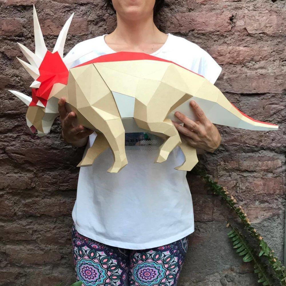 Khartosauria Colorful And Accurate 3d Dinosaur Paper Sculptures By Seba Naranjo 9