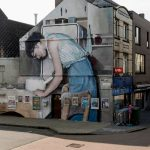 Large-scale murals of family photos by Mohamed L'Ghacham
