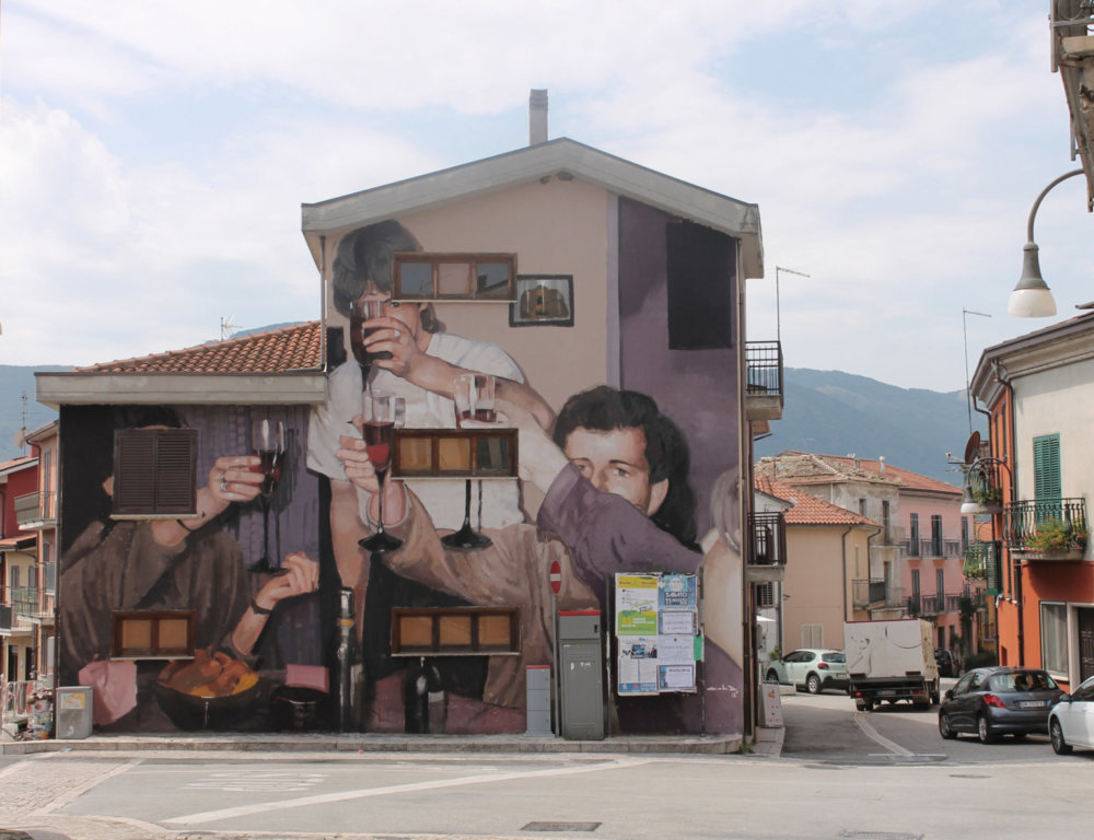 Large Scale Murals Of Family Photographs By Mohamed Lghacham 10