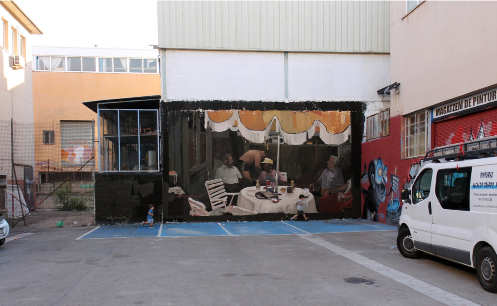 Large Scale Murals Of Family Photographs By Mohamed Lghacham 4
