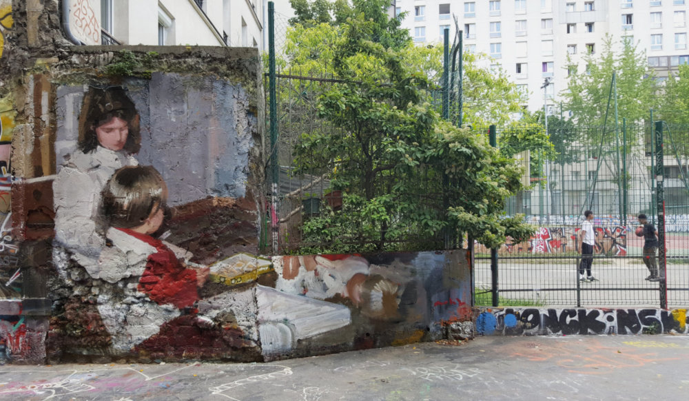 Large Scale Murals Of Family Photographs By Mohamed Lghacham 5