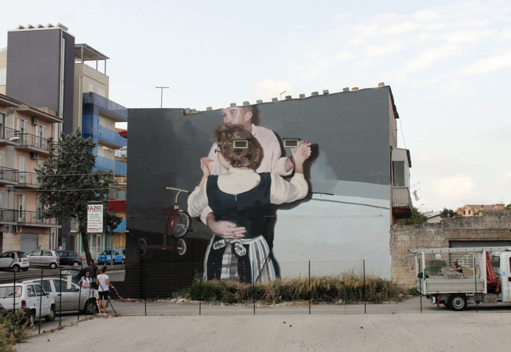 Large Scale Murals Of Family Photographs By Mohamed Lghacham 7