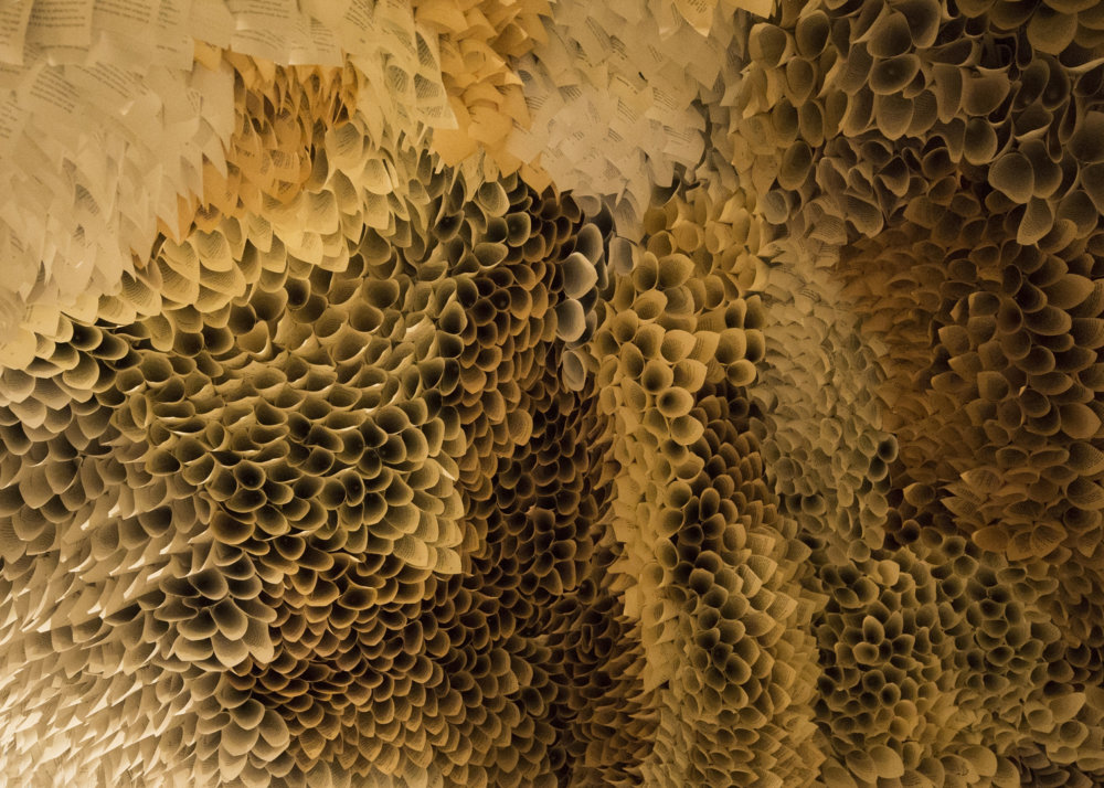 Manifestation Cave Installations Made Of Millions Of Hand Rolled Paper Cones By Samuelle Green 11