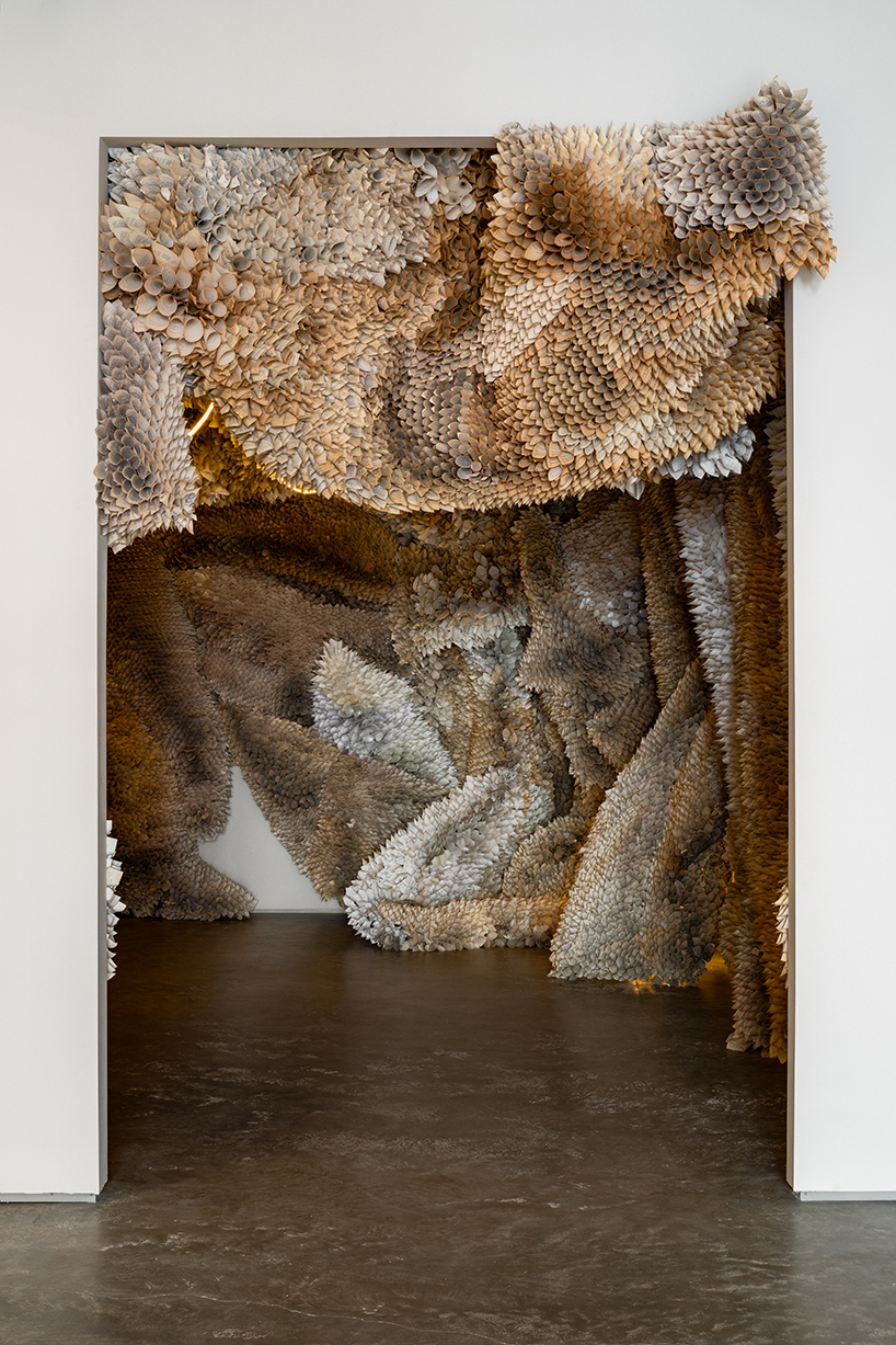 Manifestation Cave Installations Made Of Millions Of Hand Rolled Paper Cones By Samuelle Green 2
