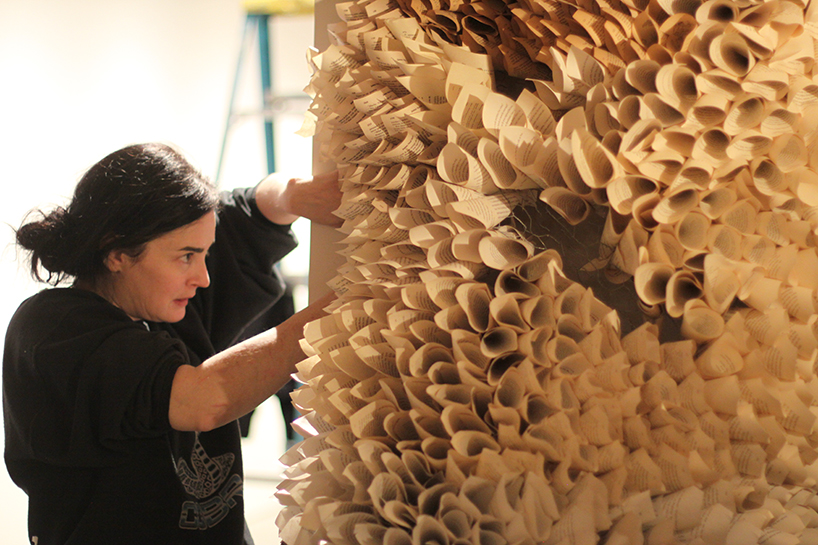 Manifestation Cave Installations Made Of Millions Of Hand Rolled Paper Cones By Samuelle Green 4
