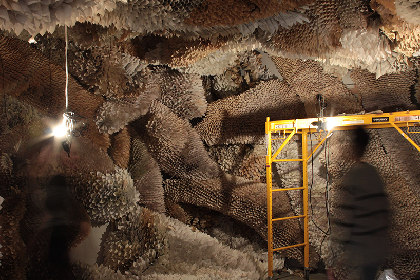 Manifestation Cave Installations Made Of Millions Of Hand Rolled Paper Cones By Samuelle Green 6