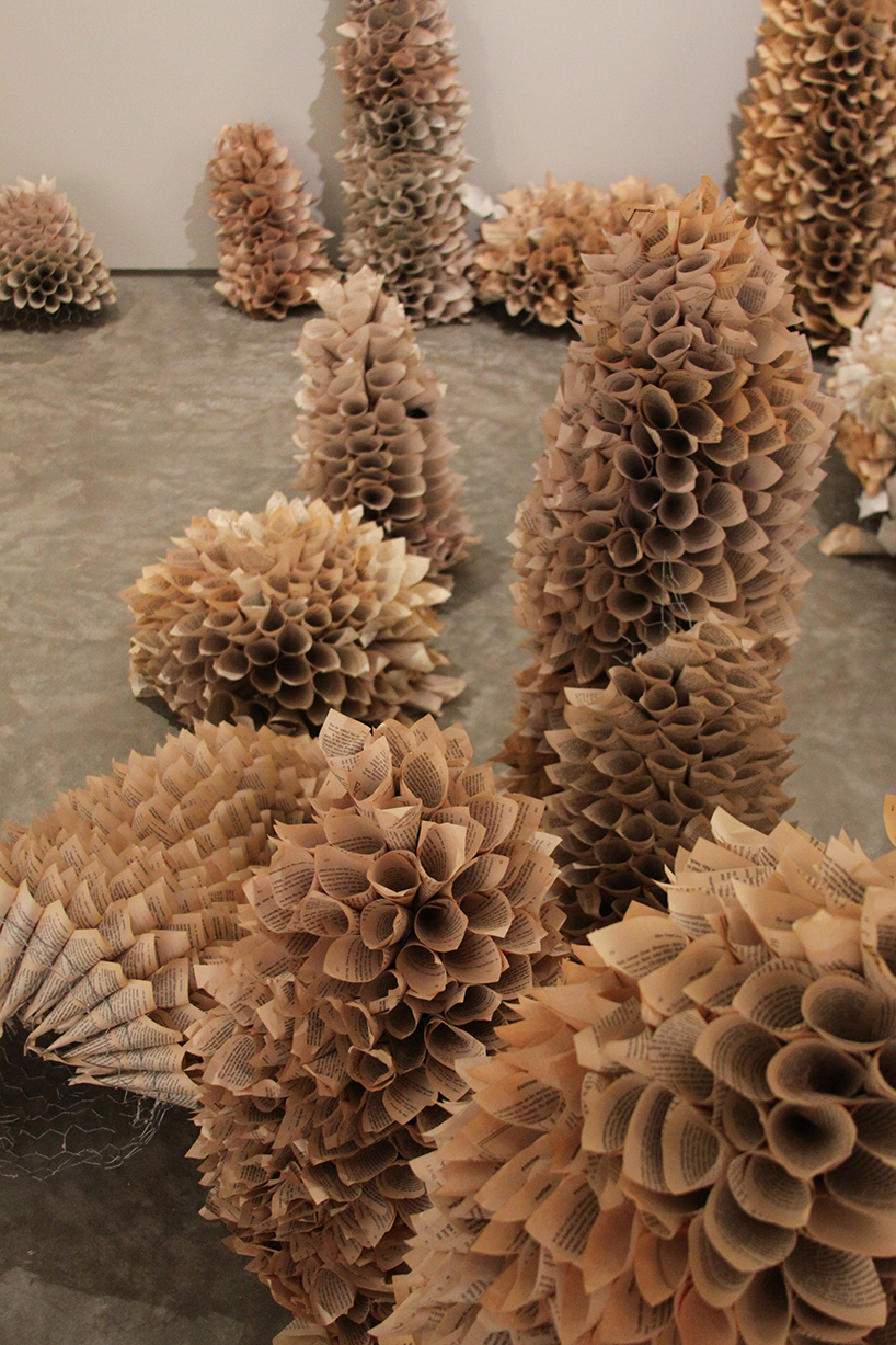 Manifestation Cave Installations Made Of Millions Of Hand Rolled Paper Cones By Samuelle Green 7