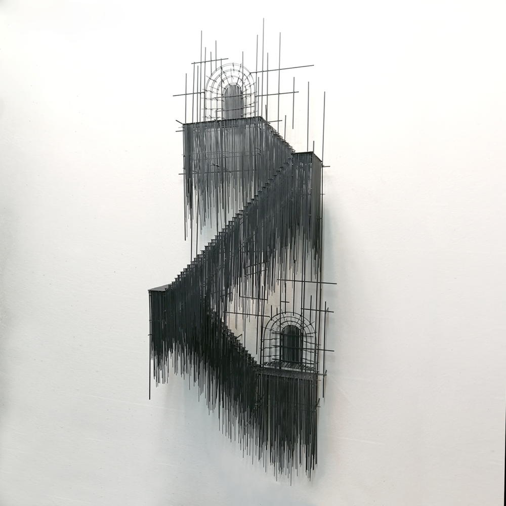 Metal Sketches Architectural Steel Wire Sculptures By David Moreno 1