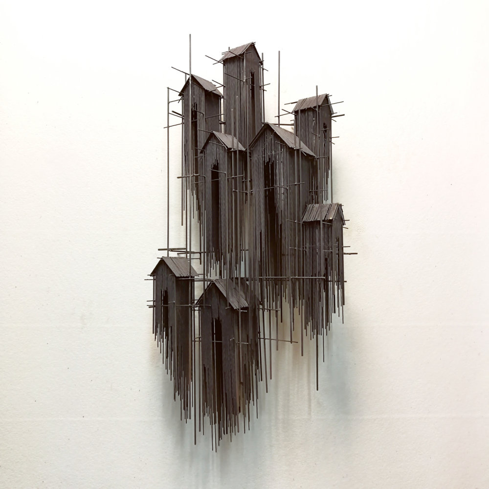 Metal Sketches Architectural Steel Wire Sculptures By David Moreno 2