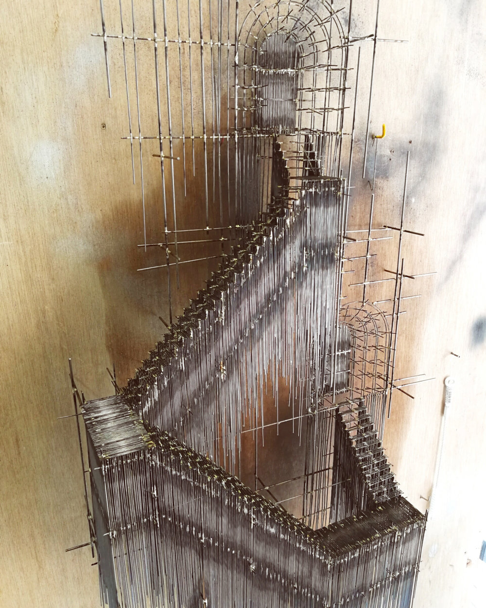 Metal Sketches Architectural Steel Wire Sculptures By David Moreno 3