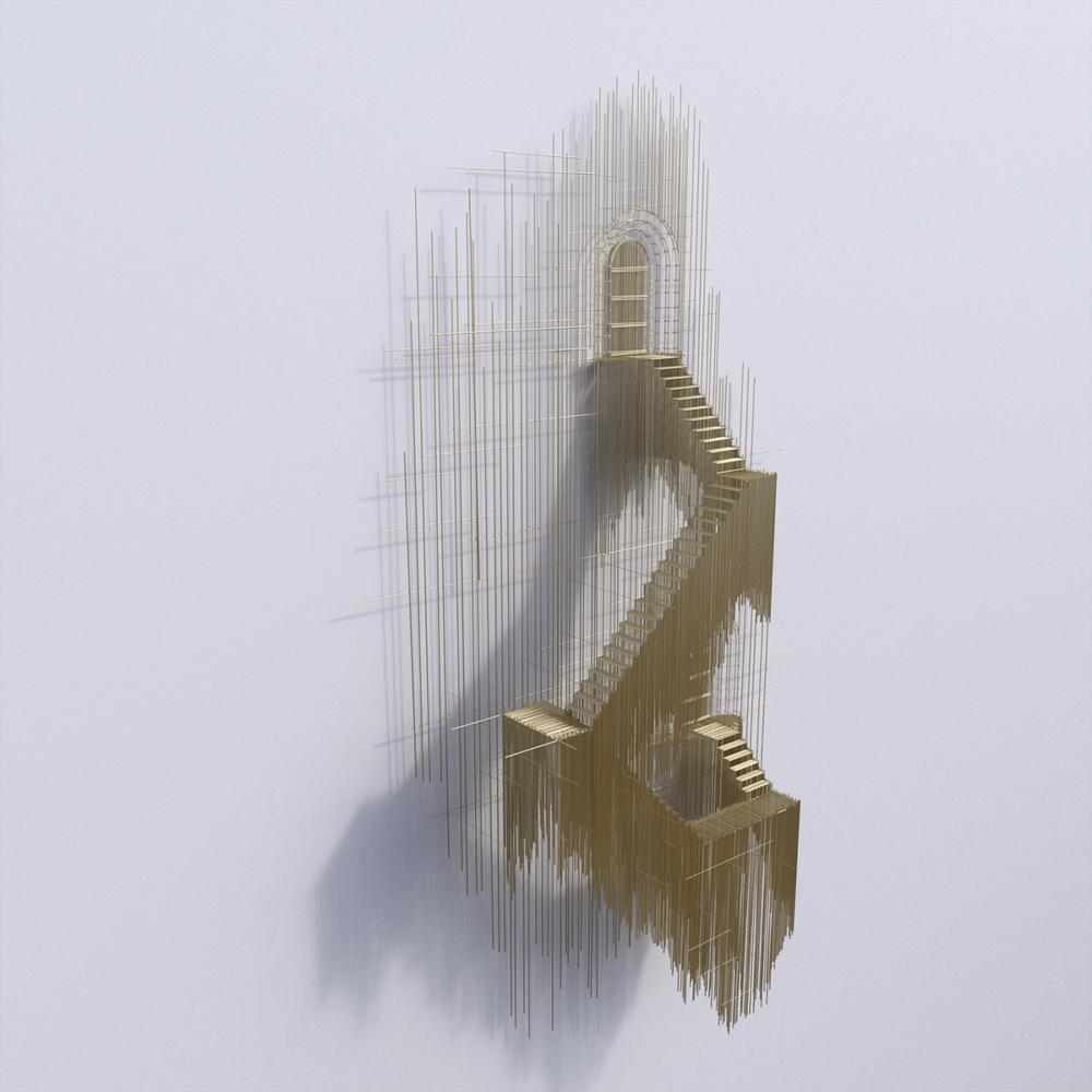 Metal Sketches Architectural Steel Wire Sculptures By David Moreno 5